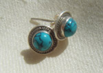 Turquoise and silver earrings from the 'Choedon' collection