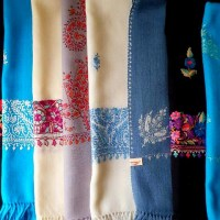 Hand Embroidered Wool Stoles