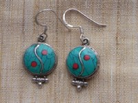 Turquoise Yinyang earrings