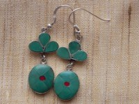 Tibetan Turquoise and Silver Earrings
